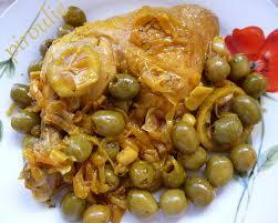 cuisine marocaine poulet aux olives tajine de poulet aux olives et aux citrons confits pâtisseries et