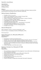 Resume Example Templates by Resume Examples Templates Quantitative Analyst Resume Employment
