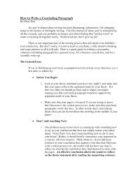cover letter good conclusion examples for essays good conclusion