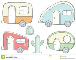 Retro Camper Retro Campers Stock Vector Image 47491586