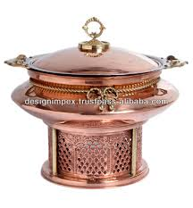 wedding serving dishes copper cheffing dish wedding party utensils food serving dish