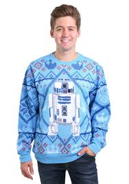 star wars cozy artoo ugly x mas sweater for men