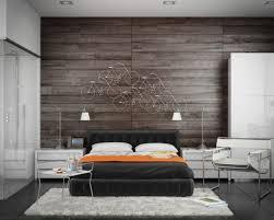 mur de chambre en bois design interieur décoration chambre adulte mur bois vélos