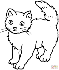 kitty cat free coloring pages on art coloring pages