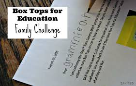 family challenge collect box tops for your free printable
