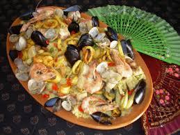 cuisiner une paella des mets et des couleurs ma paella aux fruits de mer seulement