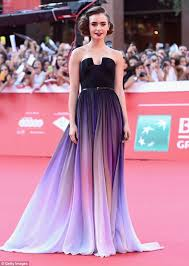 lily collins looks majestic in lavender dress at the love rosie