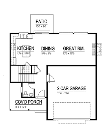 floor plan for a 940 sq ft ranch style home contemporary style house plan 3 beds 2 5 baths 1940 sq ft plan