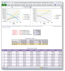 Mortgage Calculator Amortization Table by Online Calculators Excel Web Apps Spreadsheet Templates