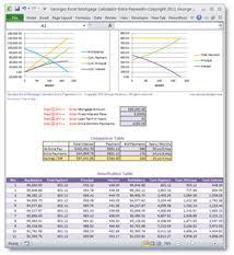 Excel Mortgage Calculator Template Calculators Excel Web Apps Spreadsheet Templates