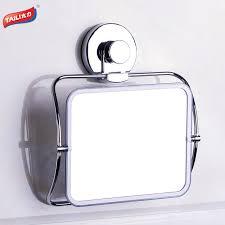 Suction Bathroom Mirror Chrome Bath Mirrors Strong Suction Hook No Drilling Bathroom