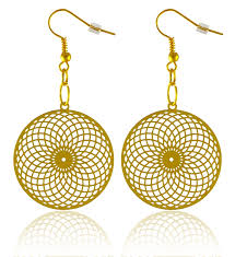 gold plated earrings vortex 18k gold plated earrings