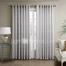 Decoration For Window Rod Pocket Grommet Top Tab Top Double Pleated Two Panels Curtain