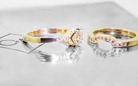 gold wedding set 61 carat chagne diamond wedding set in yellow gold chinchar