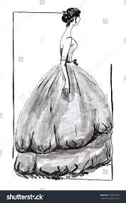 fashion 20th century magnificent evening ball stock illustration