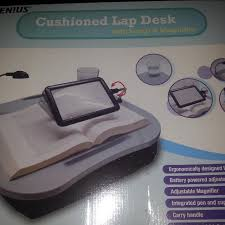 Cushioned Lap Desk by Find More Lap Desk With Light And Magnifier Never Used For Sale At