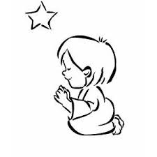 children praying coloring page free download