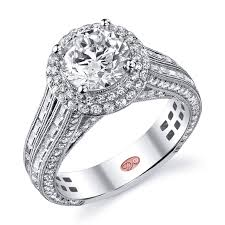 luxury designer engagement rings by demarco diamonds above