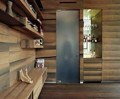 Wood Wall Treatments Plywood Paneling With Spacers Great Wall Treatment In A Modern
