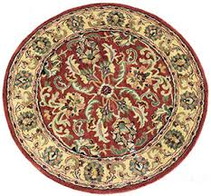 Red Round Rug Round Traditional Rug