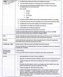 lettre de demande de fourniture de bureau mediacongo appel d offres fournitures de bureau