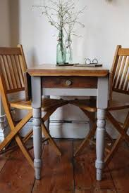 Pine Drop Leaf Table And Chairs Cute Vintage Pine Drop Leaf Table With Single Drawer In Linen