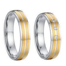 aliexpress promise rings images Western gold color titanium steel jewelry mens and womens wedding jpg