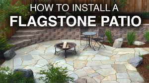 how to lay pavers for a patio how to install a flagstone patio step by step youtube