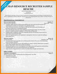 Sample Hr Resumes For Freshers by Hr Recruiter Resume 21 Best Hr Resume Templates For Freshers