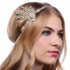 gatsby headband deco 1920s vintage look bridal headpiece flapper gatsby