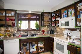 Gel Stain Kitchen Cabinets Before After How To Gel Stain Kitchen Cabinets