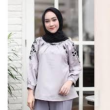 blouse wanita baju atasan punjabi top elevenia