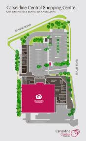 Shopping Centre Floor Plan by Store Directory Carseldine Central