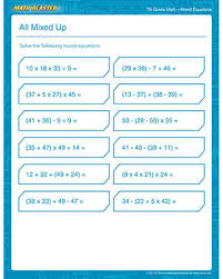 Math Worksheets For 7th Graders All Mixed Up Free 7th Grade Math Printable Pdf Worksheet Math