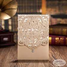 customized wedding invitations gold wedding invitations biziv promotional products
