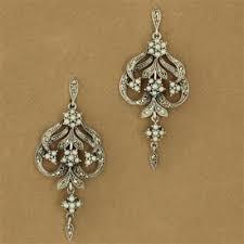 Vintage Pearl Chandelier Earrings Sterling Silver Seed Pearl U0026 Marcasite Three Flower Chandelier