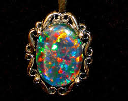 opal necklace setting images Black opal pendant etsy jpg
