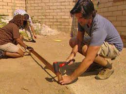 How To Make A Patio Out Of Pavers Laying Pavers For A Backyard Patio Hgtv