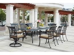 darlee outdoor living standard capri cast aluminum 9 piece dining