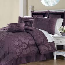 Plum Bed Set Lorenzo Damask 8 Pc Comforter Bed Set