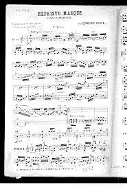 Teen Resume Example by Méphisto Masqué Dédé Edmond Imslp Petrucci Music Library