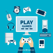 design games to download player with video game elements in flat design vector free download