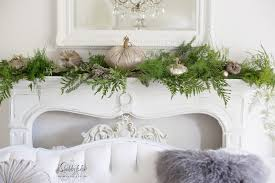 styling a mantel with fresh greenery shabbyfufu