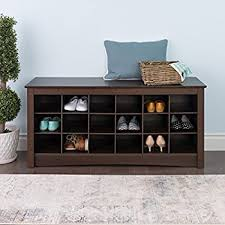 Amazon Shoe Storage Bench Amazon Com 100 Natural Bamboo Wood 3 Tier Shoe Storage Bench