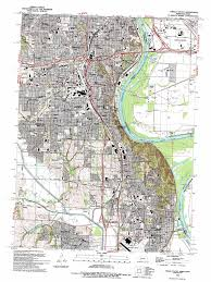 Ne Map Omaha South Topographic Map Ne Ia Usgs Topo Quad 41095b8