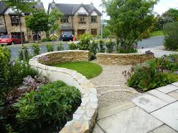 Garden Design Ideas Photos by Mesmerizing Front Gardens Designs With Rounded Shape Design