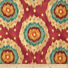 Teal And Red Curtains Red Orange Teal Gold Ikat Curtain Panel Custom Drapery In
