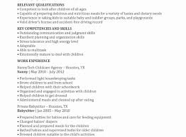 nanny duties resume how to put nanny on resume best nanny resume example livecareer