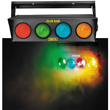 sound activated dj lights chauvet dj color bank 4 color sound activated light musician s friend