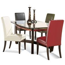 dining tables glass top dining table set 4 chairs glass top